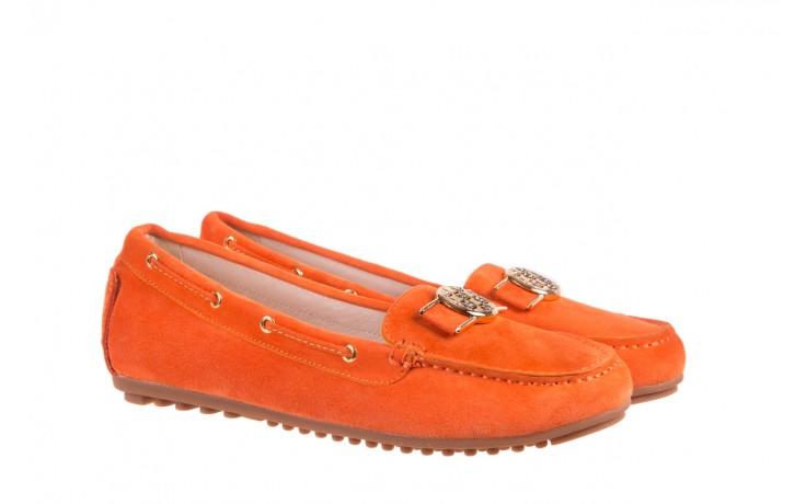 Mokasyny bayla-018 3173-335 orange 018544, pomarańczowy, skóra naturalna 1