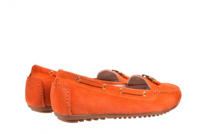 Mokasyny bayla-018 3173-335 orange 018544, pomarańczowy, skóra naturalna 2