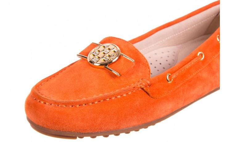 Mokasyny bayla-018 3173-335 orange 018544, pomarańczowy, skóra naturalna 4
