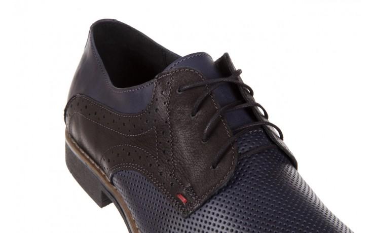 Półbuty bayla-051 166l bufallo niebieski fl. czarny, skóra naturalna  - obuwie wizytowe - buty męskie - mężczyzna 5