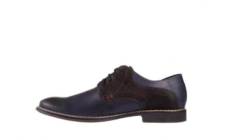 Półbuty bayla-051 166l bufallo niebieski fl. czarny, skóra naturalna  - obuwie wizytowe - buty męskie - mężczyzna 2