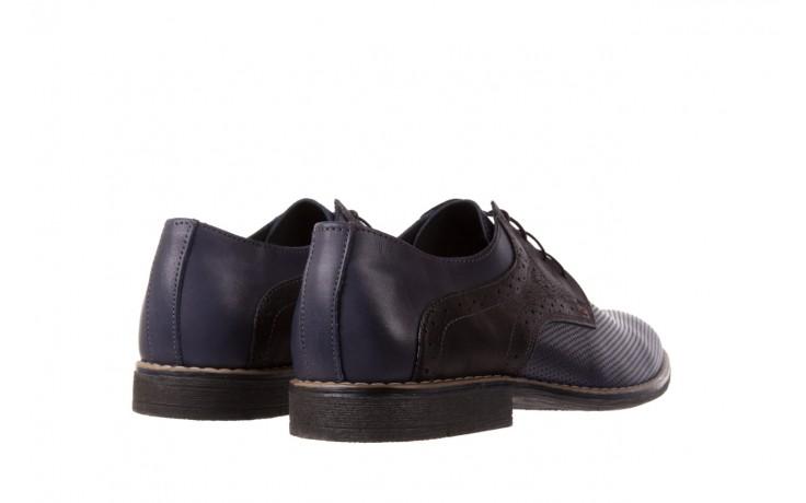 Półbuty bayla-051 166l bufallo niebieski fl. czarny, skóra naturalna  - obuwie wizytowe - buty męskie - mężczyzna 3