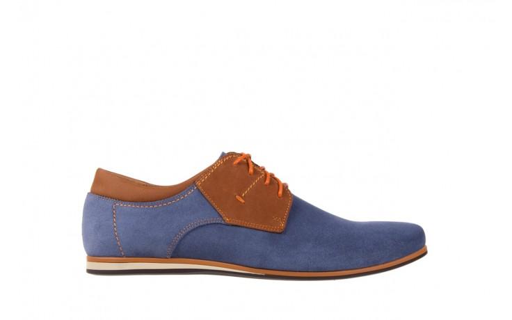Półbuty bayla-051 206 ming samuel buk, niebieski/ brąz, skóra naturalna  - bayla - nasze marki