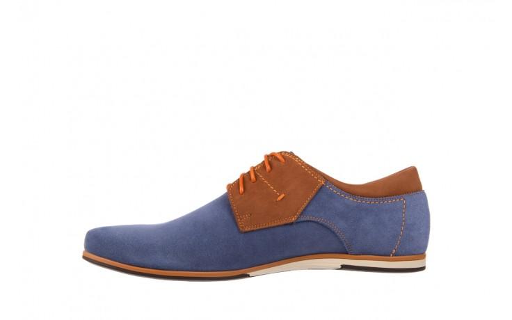Półbuty bayla-051 206 ming samuel buk, niebieski/ brąz, skóra naturalna  - bayla - nasze marki 2