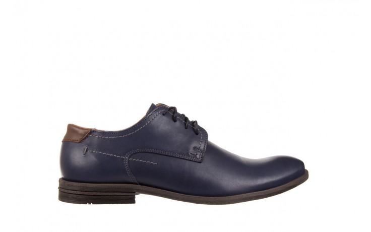 Półbuty bayla-051 216 bufallo niebieski-czekolada, granat, skóra naturalna  - obuwie wizytowe - buty męskie - mężczyzna