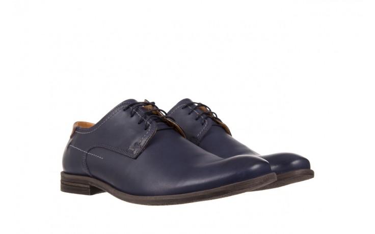 Półbuty bayla-051 216 bufallo niebieski-czekolada, granat, skóra naturalna  - obuwie wizytowe - buty męskie - mężczyzna 1