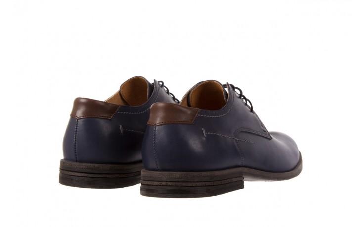 Półbuty bayla-051 216 bufallo niebieski-czekolada, granat, skóra naturalna  - obuwie wizytowe - buty męskie - mężczyzna 3
