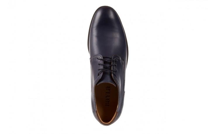 Półbuty bayla-051 216 bufallo niebieski-czekolada, granat, skóra naturalna  - obuwie wizytowe - buty męskie - mężczyzna 4
