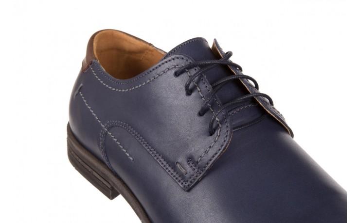 Półbuty bayla-051 216 bufallo niebieski-czekolada, granat, skóra naturalna  - obuwie wizytowe - buty męskie - mężczyzna 5