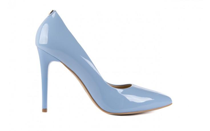 Szpilki bayla-056 1810-751 niebieski, skóra naturalna lakierowana - 10% - halloween do -30%