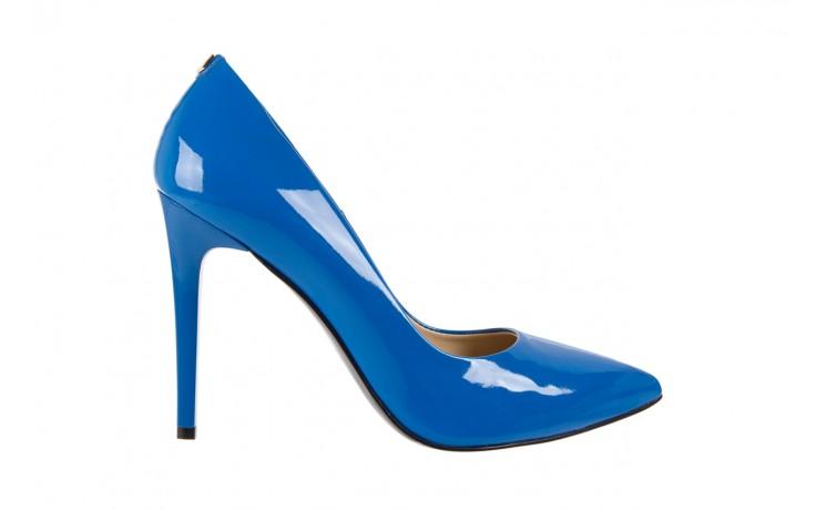 Szpilki bayla-056 1810-753 niebieski, skóra naturalna lakierowana - 10% - halloween do -30%