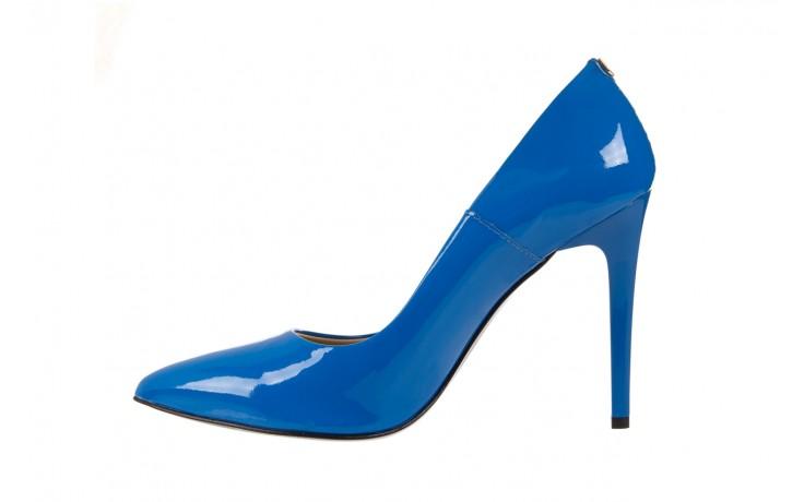 Szpilki bayla-056 1810-753 niebieski, skóra naturalna lakierowana - 10% - halloween do -30% 2
