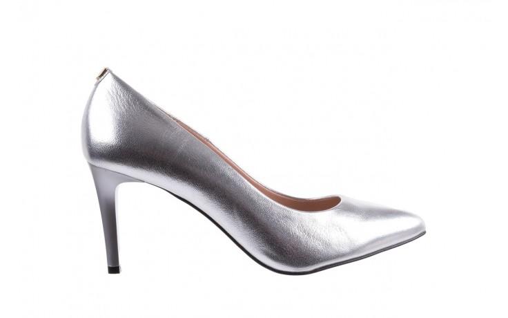 Czółenka bayla-056 1816-1103 srebrny 20, skóra naturalna  - szpilki - buty damskie - kobieta