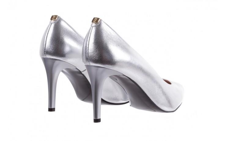 Czółenka bayla-056 1816-1103 srebrny 20, skóra naturalna  - szpilki - buty damskie - kobieta 4
