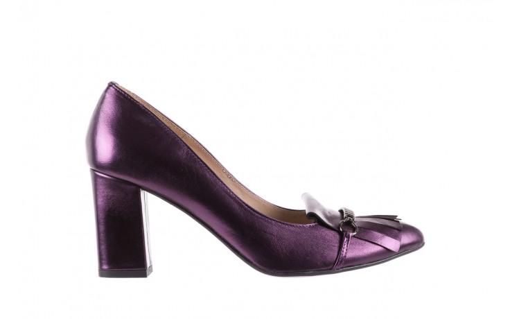 Czółenka bayla-097 7212 fiolet 173008, skóra naturalna  - na słupku - czółenka - buty damskie - kobieta