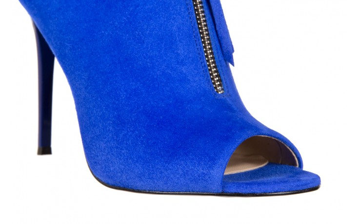 Botki bayla-056 2074-601 niebieski, skóra naturalna  - peep toe - szpilki - buty damskie - kobieta 6