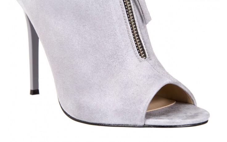 Botki bayla-056 2074-678 szary, skóra naturalna  - na szpilce - botki - buty damskie - kobieta 6