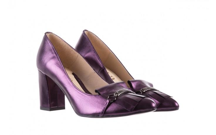 Czółenka bayla-097 7212 fiolet 173008, skóra naturalna  - na słupku - czółenka - buty damskie - kobieta 1