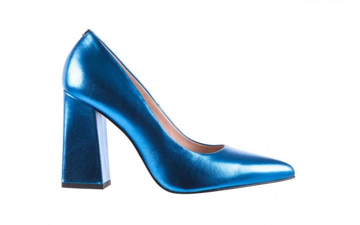 Czółenka bayla-056 5065-1095 niebieski metalik 056345, skóra naturalna  - 10% - halloween do -30%