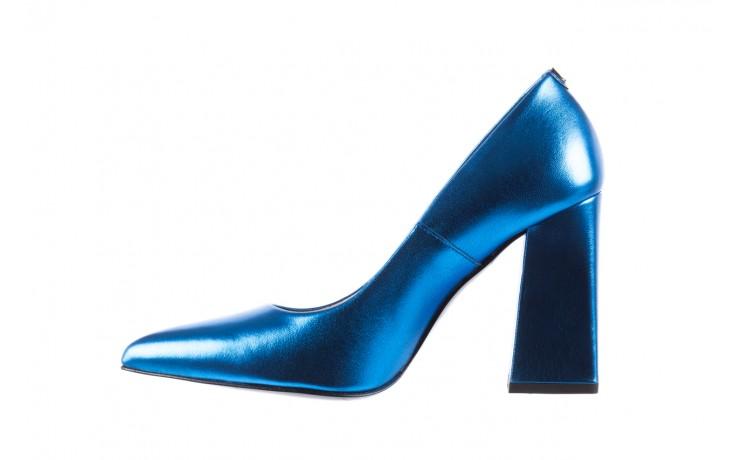 Czółenka bayla-056 5065-1095 niebieski metalik 056345, skóra naturalna  - 10% - halloween do -30% 3