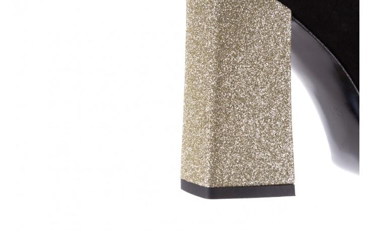 Czółenka bayla-056 5065-21 b czarny złoty 056346, skóra naturalna  - bayla - nasze marki 7