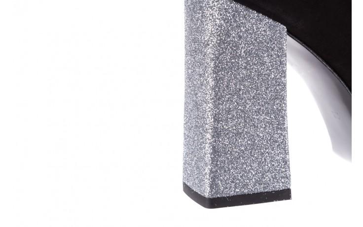 Czółenka bayla-056 5065-21 c czarny srebrny 056347, skóra naturalna  - 10% - halloween do -30% 7