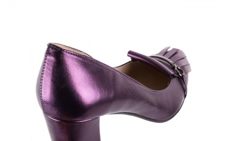 Czółenka bayla-097 7212 fiolet 173008, skóra naturalna  - na słupku - czółenka - buty damskie - kobieta 5