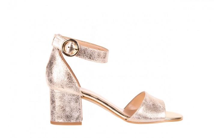 Sandały bayla-056 7049-1067 złote sandały, skóra naturalna  - bayla - nasze marki
