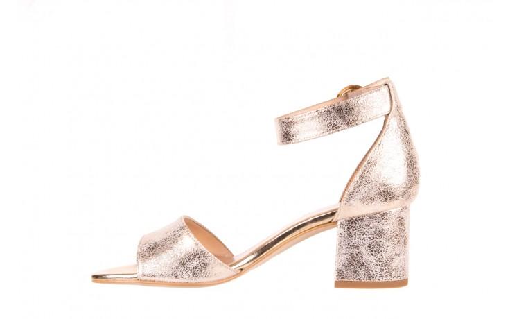 Sandały bayla-056 7049-1067 złote sandały, skóra naturalna  - bayla - nasze marki 2