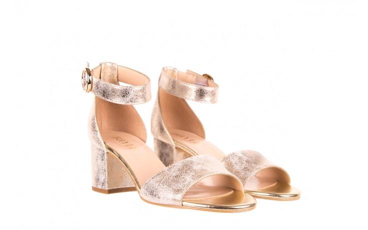 Sandały bayla-056 7049-1067 złote sandały, skóra naturalna  - bayla - nasze marki 1