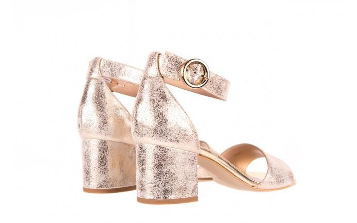 Sandały bayla-056 7049-1067 złote sandały, skóra naturalna  - bayla - nasze marki 3