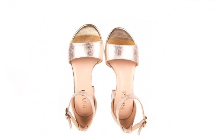 Sandały bayla-056 7049-1067 złote sandały, skóra naturalna  - bayla - nasze marki 4