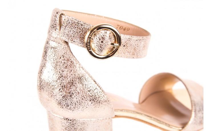 Sandały bayla-056 7049-1067 złote sandały, skóra naturalna  - bayla - nasze marki 5