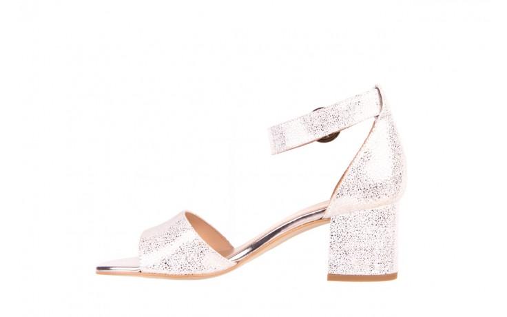 Sandały bayla-056 7049-1152 srebrno-białe sandały, skóra naturalna - bayla - nasze marki 2