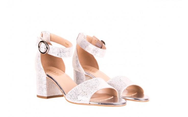 Sandały bayla-056 7049-1152 srebrno-białe sandały, skóra naturalna - bayla - nasze marki 1