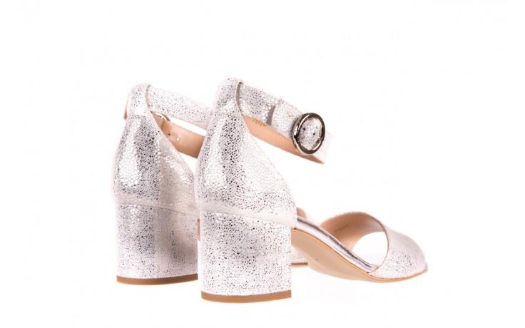 Sandały bayla-056 7049-1152 srebrno-białe sandały, skóra naturalna - bayla - nasze marki 3