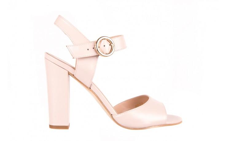 Sandały bayla-056 8023-203 beżowe sandały 19 - na obcasie - sandały - buty damskie - kobieta