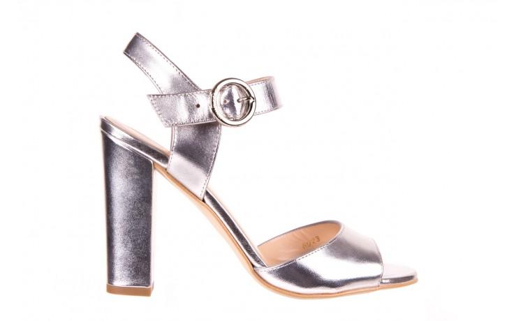 Sandały bayla-056 8023-625 srebrne sandały, skóra naturalna  - bayla - nasze marki