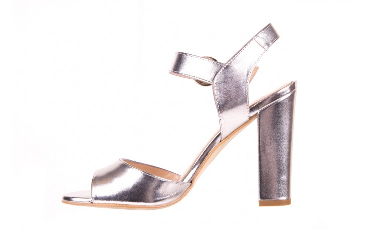 Sandały bayla-056 8023-625 srebrne sandały, skóra naturalna  - bayla - nasze marki 2