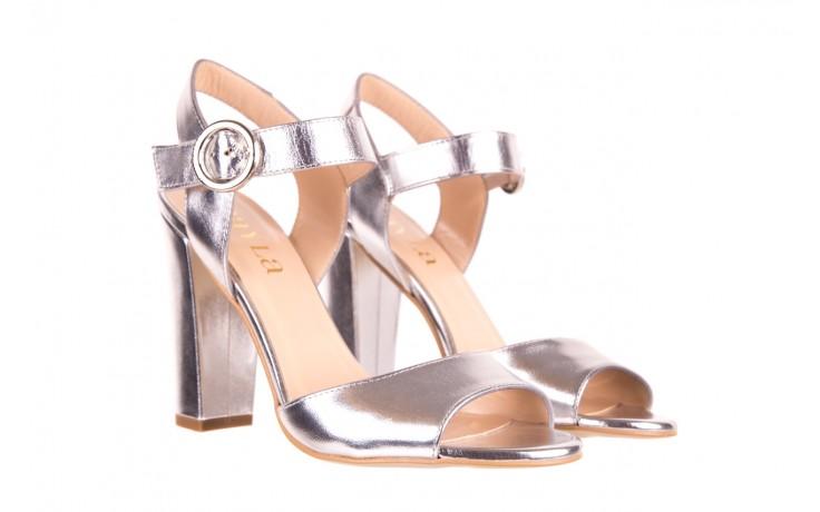 Sandały bayla-056 8023-625 srebrne sandały, skóra naturalna  - bayla - nasze marki 1