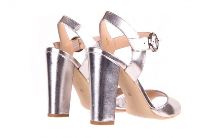 Sandały bayla-056 8023-625 srebrne sandały, skóra naturalna  - bayla - nasze marki 3