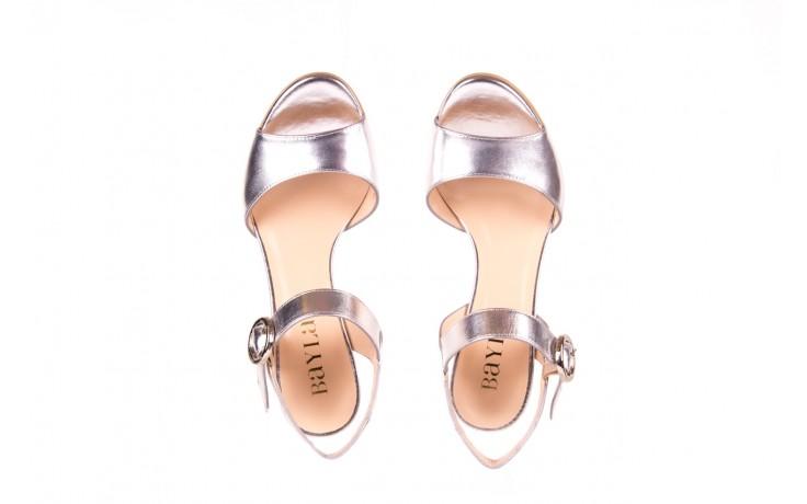 Sandały bayla-056 8023-625 srebrne sandały, skóra naturalna  - bayla - nasze marki 4