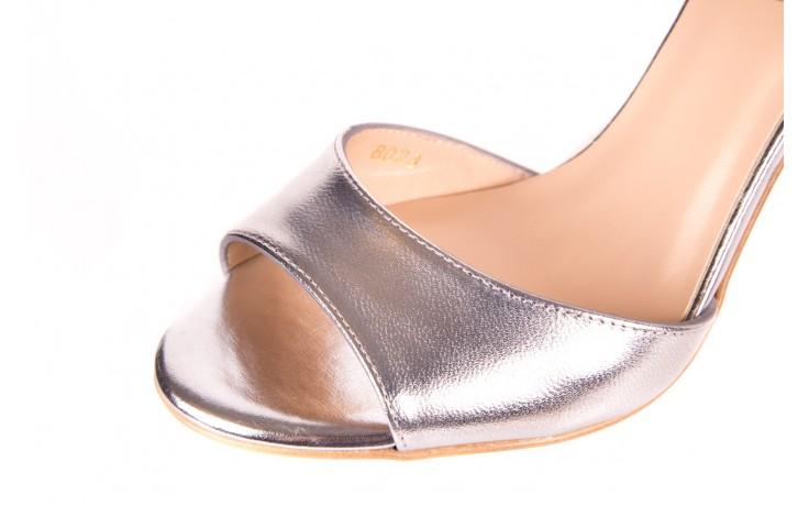Sandały bayla-056 8023-625 srebrne sandały, skóra naturalna  - bayla - nasze marki 6