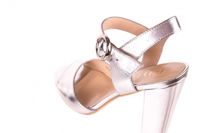 Sandały bayla-056 8023-625 srebrne sandały, skóra naturalna  - bayla - nasze marki 5
