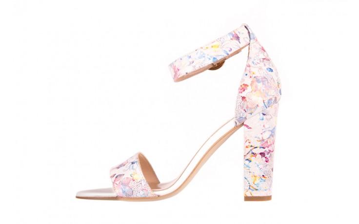 Sandały bayla-056 8024-1292 białe sandały w kwiaty, skóra naturalna  - bayla - nasze marki 2