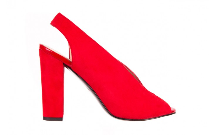 Sandały bayla-056 8043-28 czerwone sandały, skóra naturalna  - bayla - nasze marki
