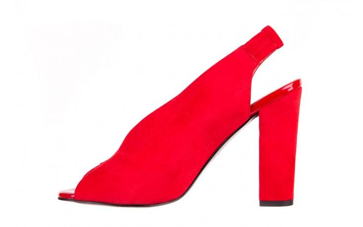 Sandały bayla-056 8043-28 czerwone sandały, skóra naturalna  - bayla - nasze marki 2