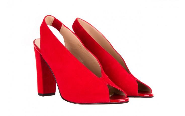 Sandały bayla-056 8043-28 czerwone sandały, skóra naturalna 1