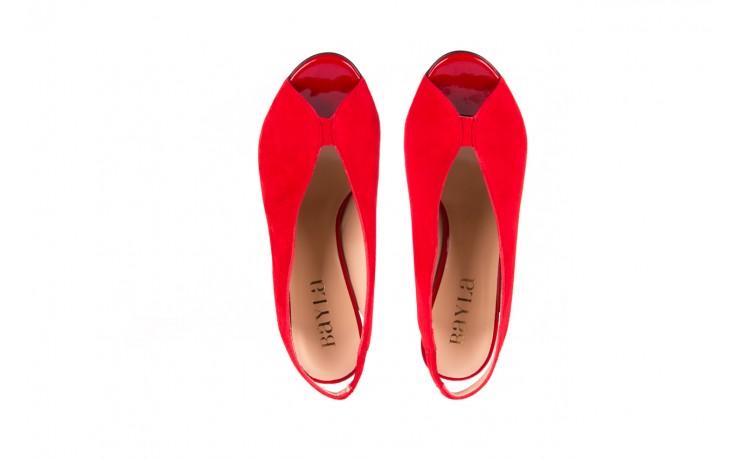 Sandały bayla-056 8043-28 czerwone sandały, skóra naturalna  - bayla - nasze marki 4