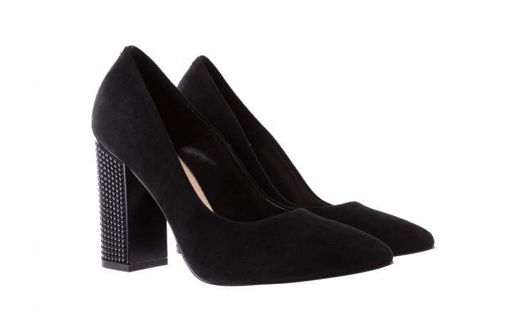 Czółenka bayla-056 8051-21 czarne czółenka z bieżnikowym obcasem, skóra naturalna  - na słupku - czółenka - buty damskie - kobieta 1
